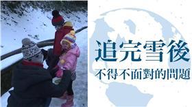 賞雪 (合成圖/資料照、曾柏瑜臉書)