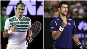 Roger Federer、Novak Djokovic(圖╱達志影像╱美聯社)