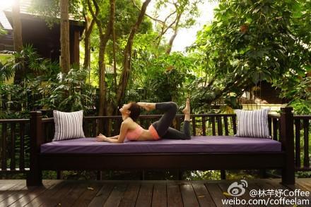 林芊妤,度假,東南亞,避寒,比基尼,瑜珈,寒流林芊妤微博 http://tw.weibo.com/coffeelam