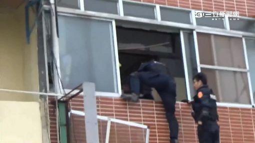 逃逸外勞當山老鼠 警破窗追緝攀牆逃