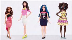 ▲不同身材的芭比娃娃。(圖/翻攝自芭比官網) http://www.barbie.com/en-us