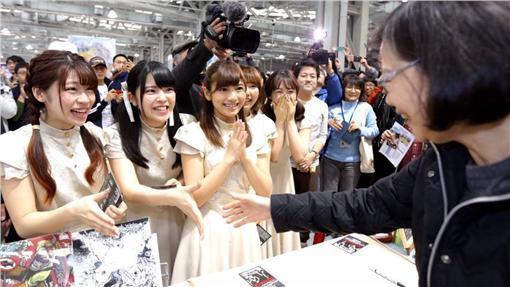 蔡英文,日本女子偶像團體STARMARIE,FF27-翻攝自蔡英文臉書