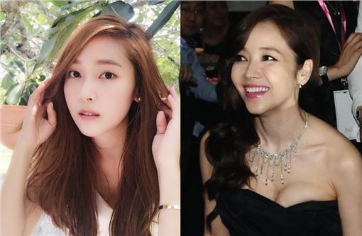 Jessica vs.侯佩岑/IG、臉書合成圖