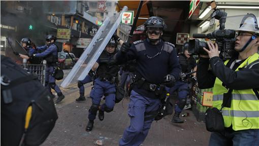 香港旺角衝突 圖/美聯社/達志影像