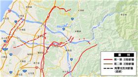 台灣活動斷層觀測系統。(圖/翻攝自中央地質調查所網站)