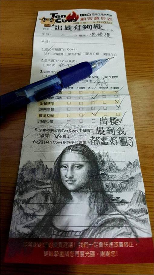 圖龍大師畫蒙娜麗莎 (圖/翻攝自蘇家賢臉書)