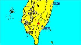 台東地震(圖翻攝自氣象局)