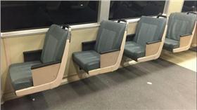 舊金山地鐵縮減座椅 (圖/翻攝自舊金山紀事報)