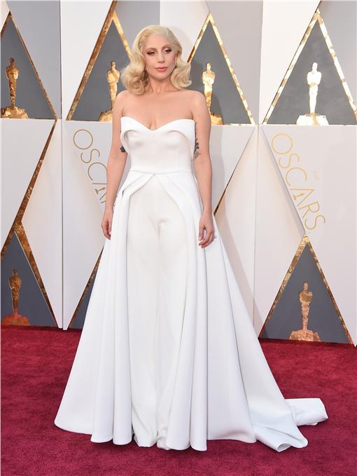 奧斯卡,紅毯,星光大道,Lady Gaga,女神卡卡/達志影像/美聯社