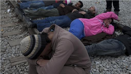 希臘難民/移民(圖/美聯社/達志影像)