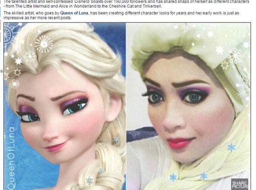 馬來西亞女孩大玩cosplay(圖/翻攝自每日郵報)