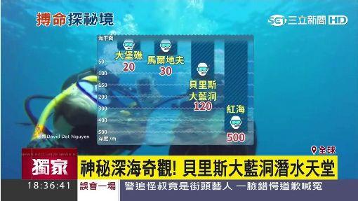 """一窺海底世界 潛水員挑戰""""人體極限"""""""