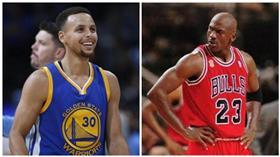 Michael Jordan,Stephen Curry(合成圖/ap)