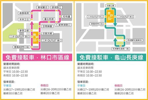 林口三井OUTLET PARK,購物,交通▲圖/翻攝自Mitsui Outlet Park 林口臉書