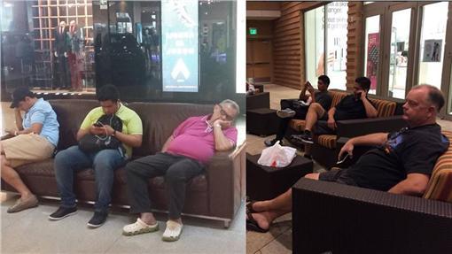 逛街、男生、睡覺、等待(圖/miserable_men Instagram)