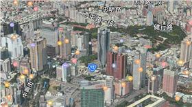 Apple Maps 3D 地圖(圖/翻攝自Apple Maps)