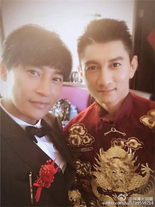 吳奇隆與劉詩詩結婚,小虎隊成員合體(圖/翻攝自微博)
