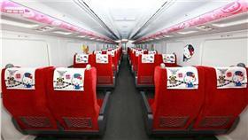▲新太魯閣Hello Kitty彩繪列車今天首航。(圖/fun臺鐵)