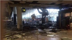 比利時機場爆炸(圖/翻攝自Twitter)