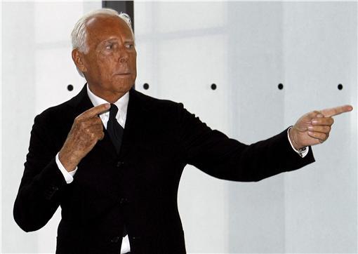 Giorgio Armani(圖/路透社/達志影像)