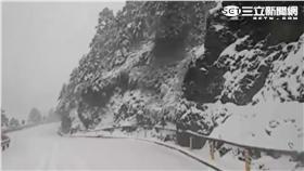 合歡山下雪