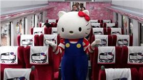 Hello Kitty,台鐵,枕巾 圖/翻攝自CNN