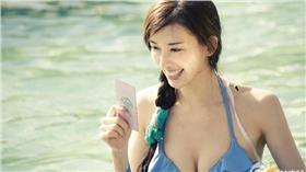 ▲林志玲拍攝大陸綜藝節目 穿比基尼。(圖/翻攝自愛奇藝娛樂微博)