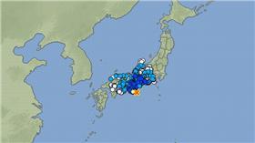 日本地震(圖翻攝自日本氣象廳)