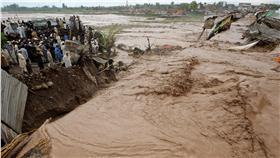 巴基斯坦豪雨 (圖/美聯社/達志影像)