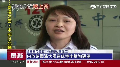 北京瓊華島突發龍捲風 掀翻湖面遊船