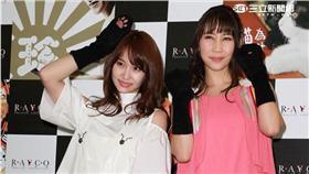 AKB48永馬尾利亞、近野莫莉來台記者會。(圖/攝影邱榮吉)