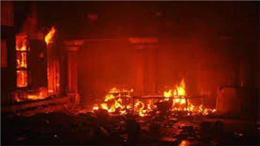 印度廟火警 圖/翻攝自Twitter