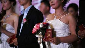 結婚、中國、婚禮、新郎、新娘(圖/路透社/達志影像)