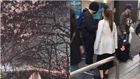 周杰倫、昆淩東京逛街/翻攝自昆凌、諾坎普的飲水機微博