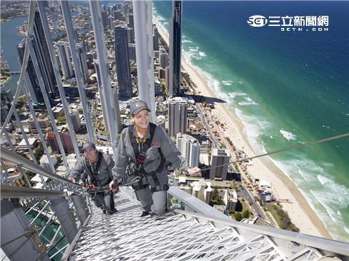攀爬到SkyPoint 制高點,黃金海岸美景盡收眼底。(圖/昆士蘭州旅遊暨活動推廣局提供)