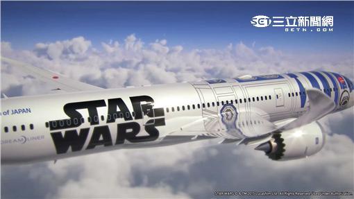 ANA星際大戰彩繪機R2-D2。(圖/翻攝自ANA官網)