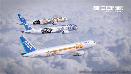 ANA星際大戰彩繪機。(圖/翻攝自ANA官網)