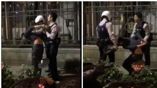 大學生,警察,妨害公務,攻擊圖/翻攝自爆料公社影片