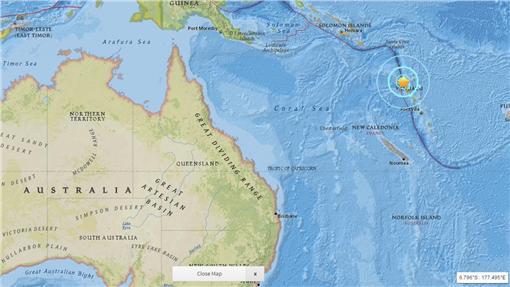 萬那杜外海地震(圖/翻攝自USGS)