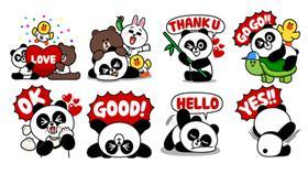 Line 貼圖 胖友 熊大 妹妹 熊貓 世界地球日