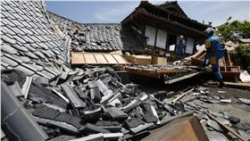 日本九州地震、熊本縣地震/(圖/美聯社/達志影像)