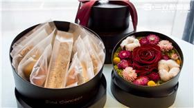 六福旅遊集團旗下生活美學品牌Elite Concept一禮莊園正式宣告推出全新系列手工囍餅-幸福藏寶盒。(圖/六福集團提供)