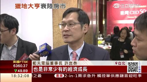 藍天許崑泰樂觀中國經濟 悲觀房地產