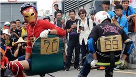辦公椅拉力賽 台南市政府提供