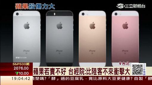 蘋果若賣不好 台經院:比陸客不來衝擊大