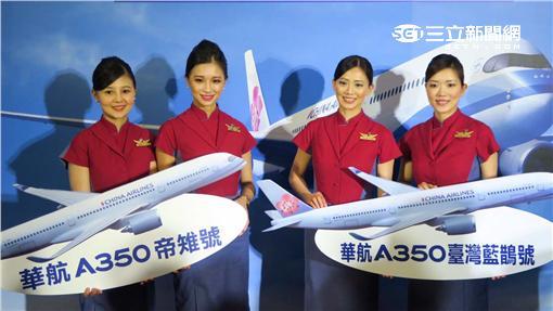 華航A350飛行大使。(圖/記者簡佑庭攝影)