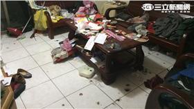 康男住家被鞭炮炸到一片狼藉(翻攝畫面)