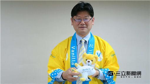香草航空董事長五島勝也。(圖/記者簡佑庭攝影)