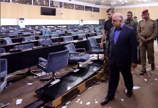 伊拉克占領國會/翻攝自推特