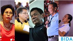 五位菲律賓總統候選人/翻攝自臉書
